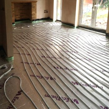 Underfloor heating in extension